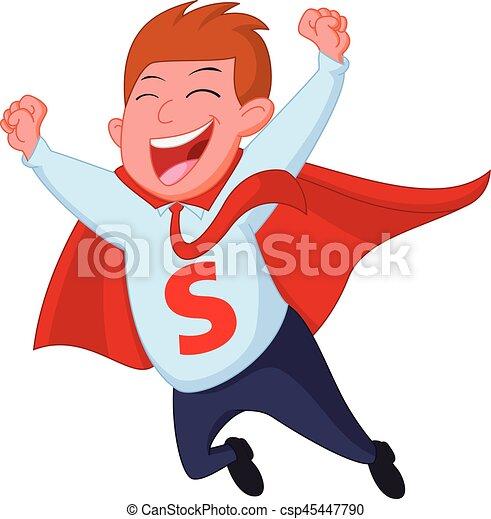 Feliz vuelo de superhéroes - csp45447790