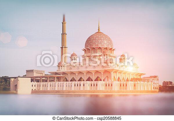 moschea, putrajaya, -, malaysia, putra - csp20588845