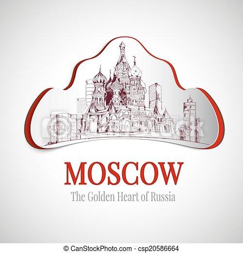 Moscow city emblem - csp20586664
