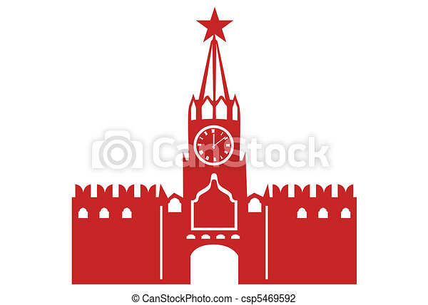 Moscow Kremlin Vector Illustration Search Clipart