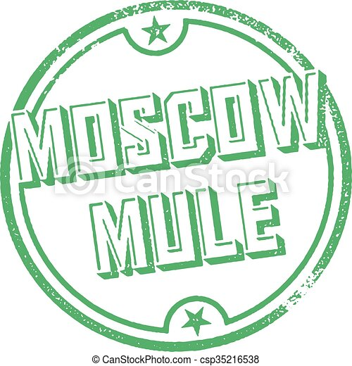 Moscow Mule Cocktail Stamp - csp35216538