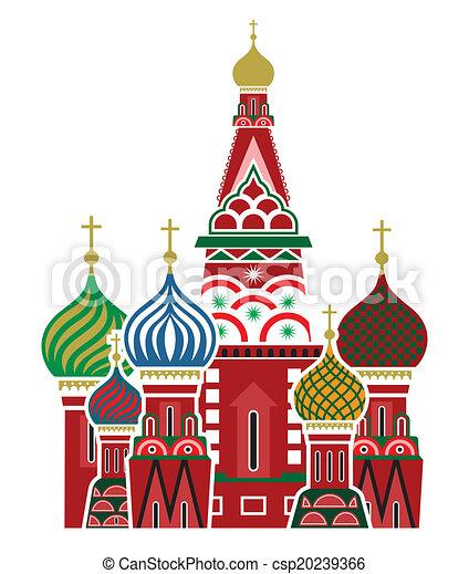 Moscow symbol - Saint Basil's Cathe - csp20239366