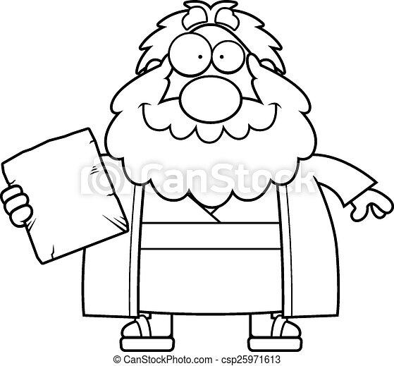 Feliz musgo de dibujos animados - csp25971613