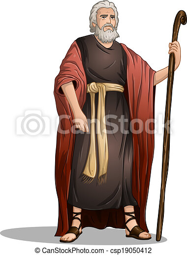 Moses From Bible For Passover - csp19050412