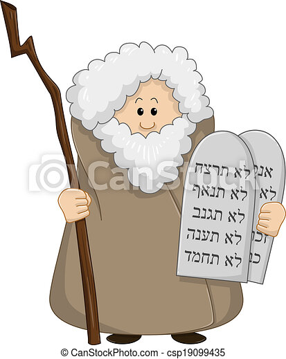 Moses Holding The Ten Commandments - csp19099435