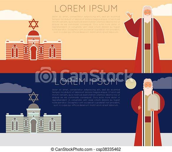 Moses Jew Banner - csp38335462