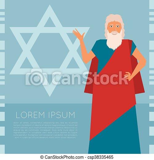 Moses Jew Banner - csp38335465