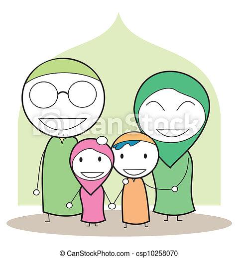 moslem family - csp10258070