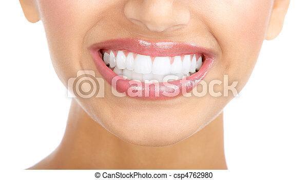 mosoly, nő, fog - csp4762980