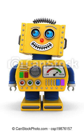 mosolygós, apró robot - csp19876157
