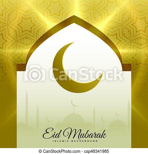 Wonderful Door Eid Al-Fitr Decorations - mosque-door-with-crescent-moon-for-eid-eps-vector_csp48341985  Snapshot_366429 .jpg