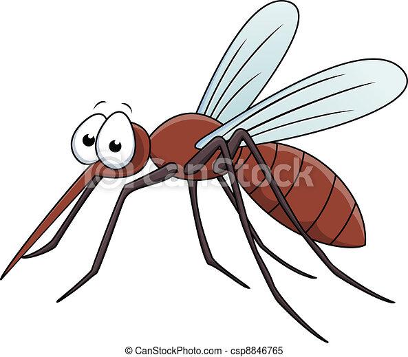 Mosquito Cartoon - csp8846765