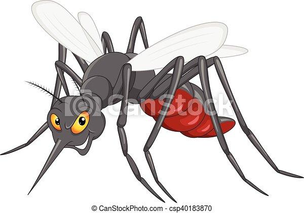 mosquito cartoon - csp40183870