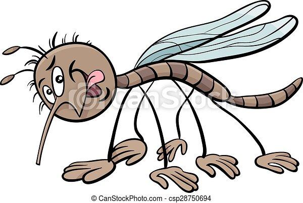 mosquito character cartoon illustration - csp28750694