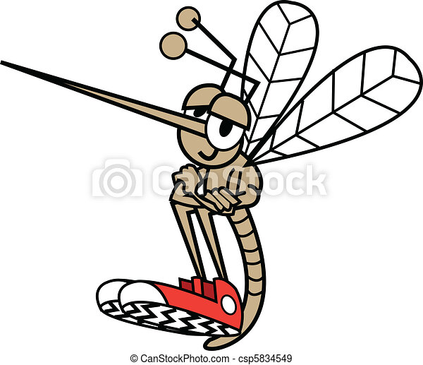 Mosquito In Cartoon Style - csp5834549