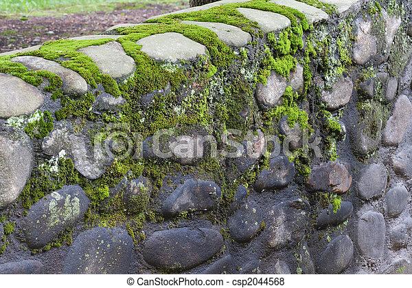 Moss On Rock Wall Moss Growing Between Rocks On Rock Wall