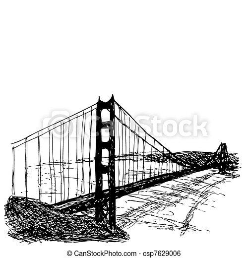 most, brama, złoty - csp7629006