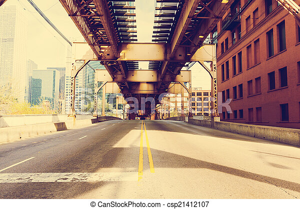 most, obraz, chicago, rocznik wina, -, skutek - csp21412107
