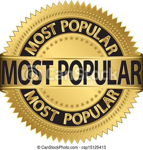Most popular golden label, vector i - csp15125413
