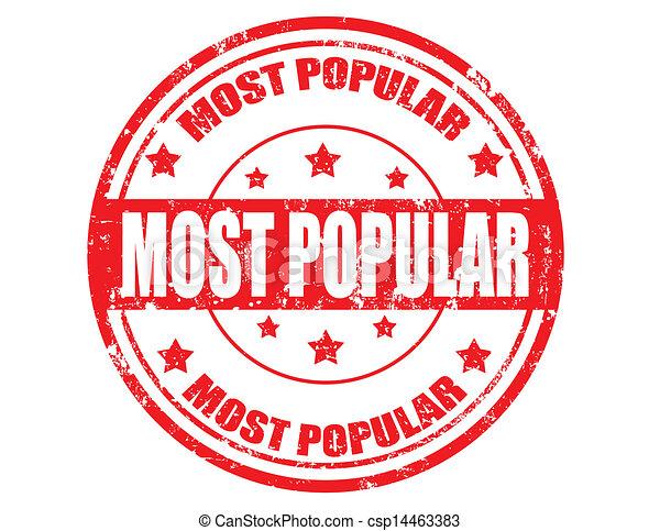 Most popular-stamp - csp14463383