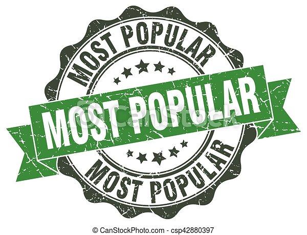 most popular stamp. sign. seal - csp42880397