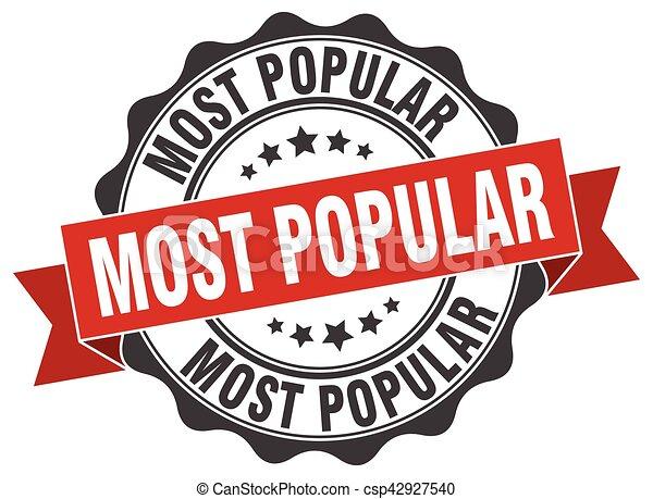 most popular stamp. sign. seal - csp42927540