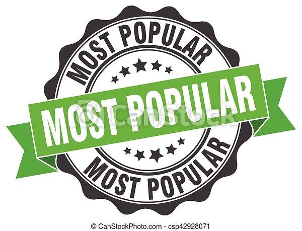 most popular stamp. sign. seal - csp42928071