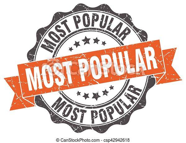 most popular stamp. sign. seal - csp42942618