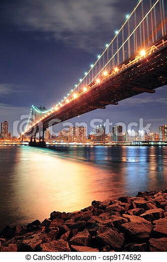 most, york, miasto, manhattan, nowy - csp9174592