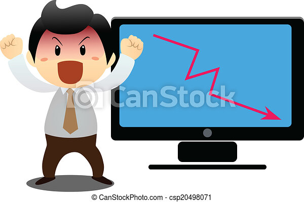 mostra, laptop's, uomo affari - csp20498071