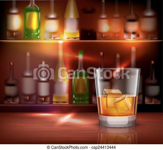 Bar contra fondo - csp24413444