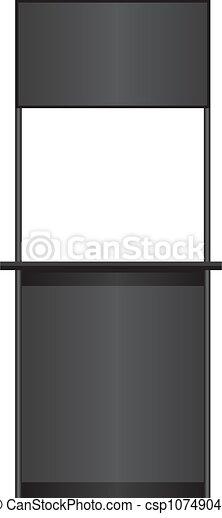 Un mostrador negro - csp10749046