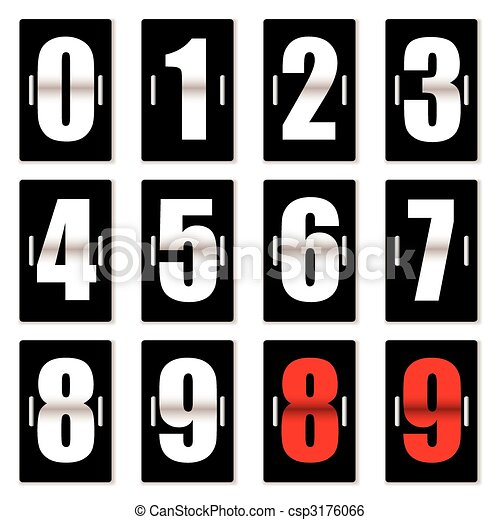Contra reloj negro - csp3176066