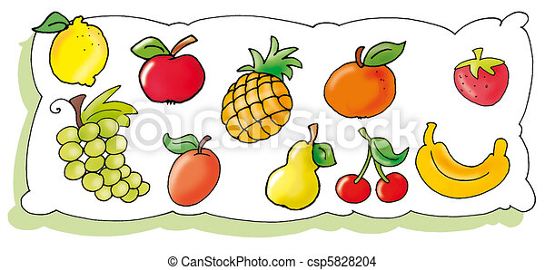 mostrar, fruta - csp5828204