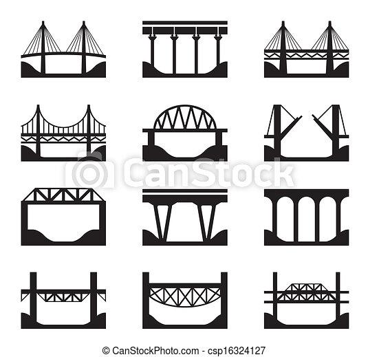 mosty, różny, typy - csp16324127