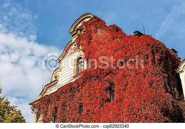 Moszna Castle, historic palace located in a village of Moszna, Upper Silesia, Poland - csp62923340