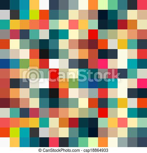 motívum, elvont, seamless, tervezés, retro, geometriai, -e - csp18864933