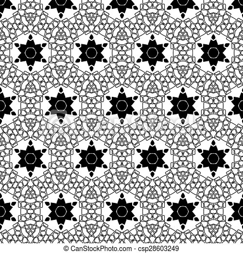 motívum, retro, seamless, primitív, megvonalaz, egyszerű - csp28603249