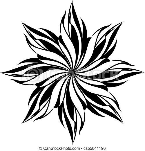 motívum, seamless, virágos - csp5841196