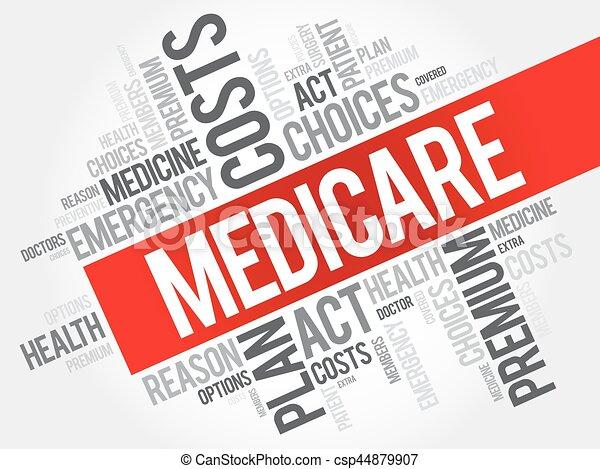 mot, assurance-maladie, collage, nuage - csp44879907