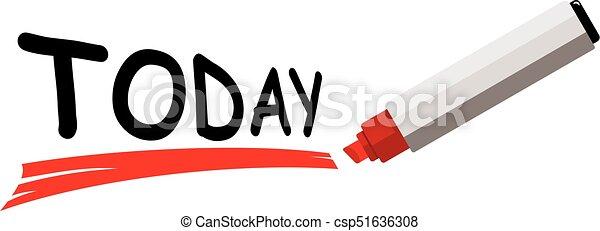 mot, aujourd'hui - csp51636308