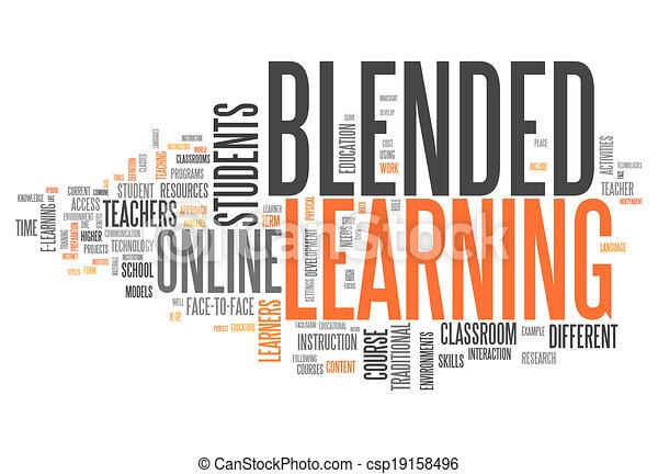 """mot, """"blended, nuage, learning"""" - csp19158496"""