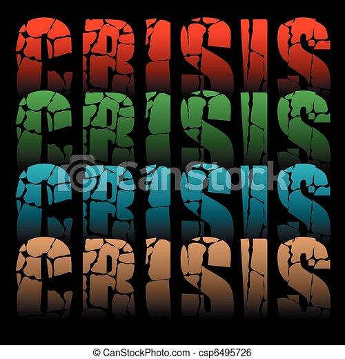 mot, crise - csp6495726