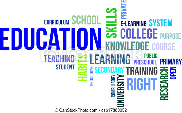 mot, education, -, nuage - csp17883052