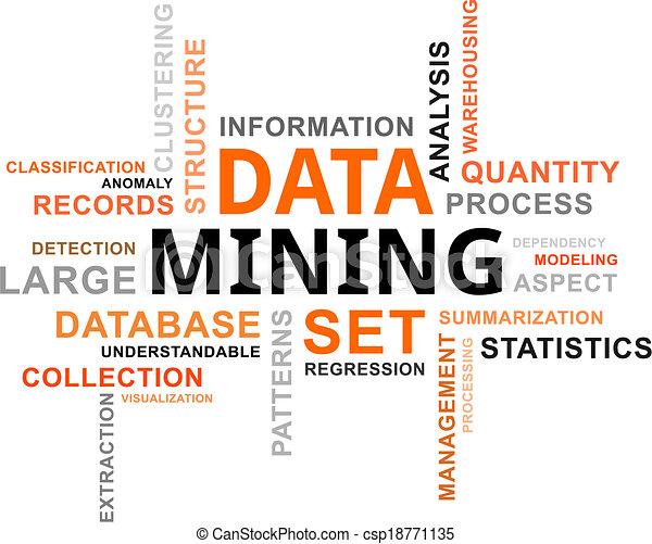 mot, exploitation minière, -, nuage, données - csp18771135