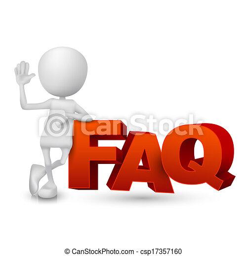 mot, ), (, faq, personne, questions, frequently, demandé, 3d - csp17357160