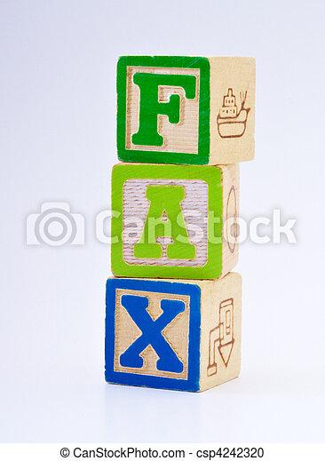 mot, fax, blocs, spelled - csp4242320