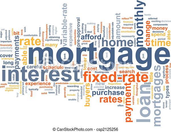 mot, hypothèque, nuage - csp2125256