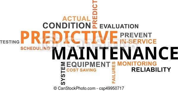 mot, -, nuage, entretien, predictive - csp49950717