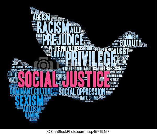 mot, nuage, social, justice - csp45719457